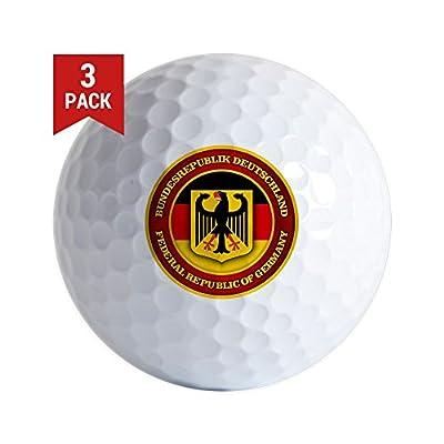 CafePress - German Emblem Golf Ball - Golf Balls (3-Pack), Unique Printed Golf Balls