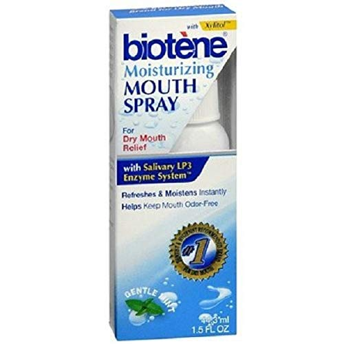 Biotene Moisturizing Gentle Mint Mouth Spray 1.5 oz Pack of 2