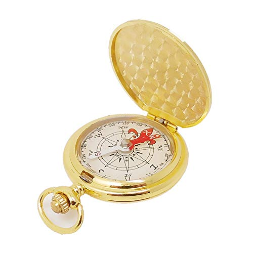 YSINOBEAR Metal Flip Compass Outdoor Compass, Pocket Watch Copper Compass Outdoor Direction Table ()