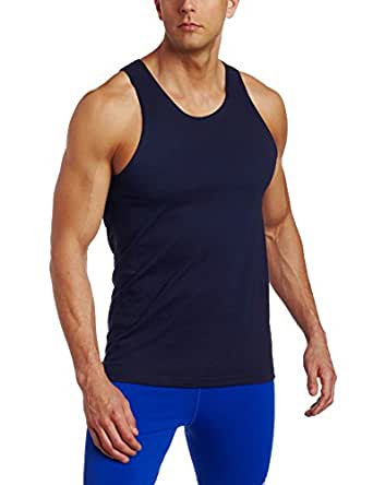 Russell Athletic Men's Basic Cotton Tank Top, Navy, Small