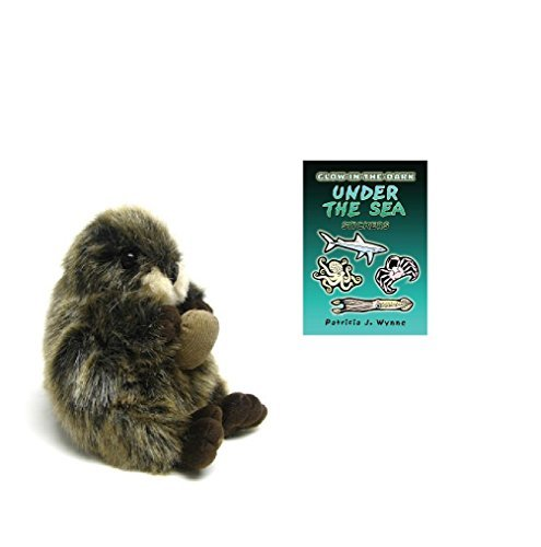 Unipak Plumpee Baby Sea Otter Plush Animal with Sticker (Infant Jack Skellington Costumes)
