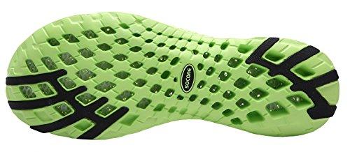 UJoowalk Frauen leichte Slip On Mesh Aqua Wasser Schuhe Weiß