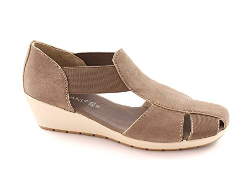 Grünland ISEO SA0271 zapatos de color beige sandalias zeppetta mujer estiramiento comodidad Beige