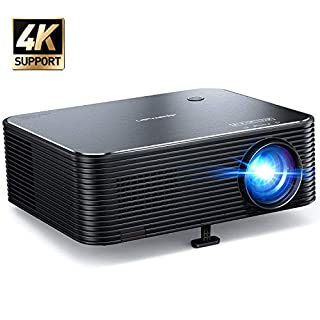 Projector, APEMAN Native 1080P HD Video Projector, 300'' Display, Remote Electronic Keystone Correction, Support 4K Movie, HDMI/USB, for iPhone/Fire Stick/PC/Xbox, Home Theater/Business Presentation