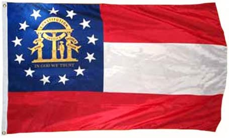 """12x18 Georgia Republic Country 2 Faced 2-ply Nylon Wind Resistant Flag 12x18/"""""""