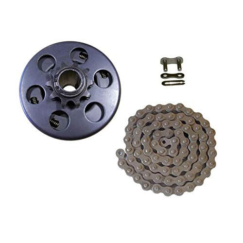 - Peofrssinal Go Kart Mini Bike Bicycle Centrifugal Clutch 10T Bore with 40/41/420 Chain Small Bike Parts