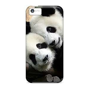 Premium Kvi18370TFep Cases With Scratch-resistant/ Panda In Love Cases Covers For Iphone 5c