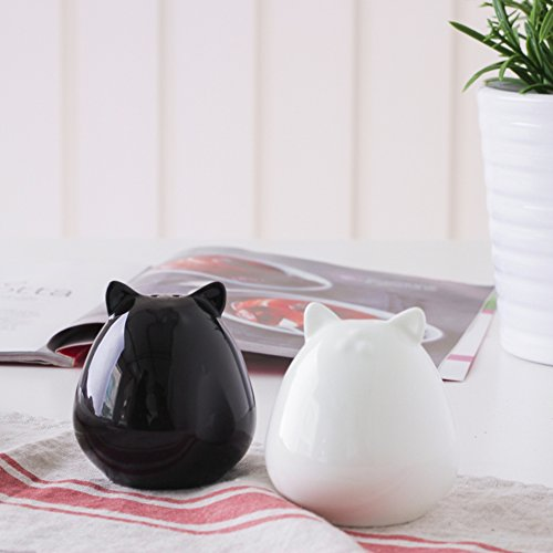 Bone China Cat salt and pepper set salt shaker Sauce bottle-A