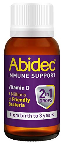 Abidec-Immune-Support–2-in-1-Drops-Vitamin-D-Millions-of-Friendly-Bacteria–1-Months-Supply-for-Your-Kid-or-Baby–Food-Supplement-for-Babies-from-Birth-to-3-Years