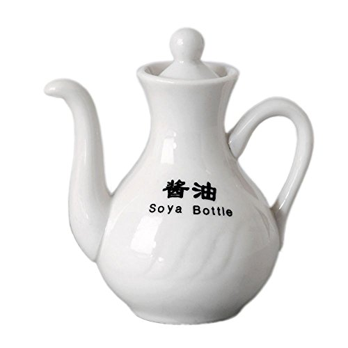 Vertex China SAU-SB Sausalito Soy Sauce Bottle, 4 oz., Bone White (Pack of 24) (Sauce China Bone)