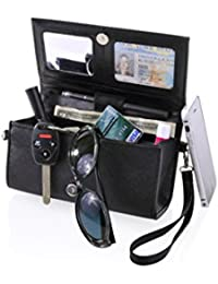 Eyeglass Protection Hard Case with Zipper Pocket - Top Quality Storage for Glasses, Phones Credit Cards, Cash, Makeup and More - Safe RFID Blocking Technology for Credit Card Frauds | Multiple Colors