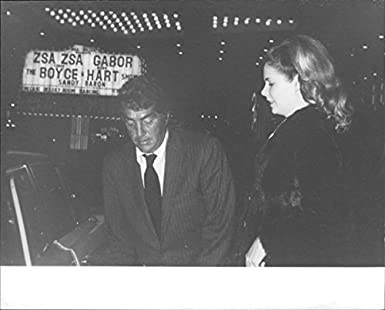 Vintage photo of Dean Martin with girlfriend Gail Renshaw.