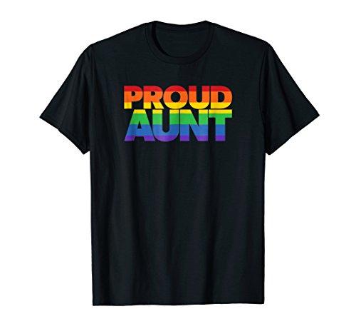 Gay Pride Shirt LGBT Shirt Family Proud Aunt t-shirt