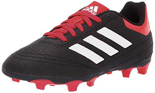 adidas Unisex-Kid's Goletto VI Firm Ground Football Shoe, Black/White/Scarlet, 13.5K M US Little Kid (Equipment Soccer Boys)