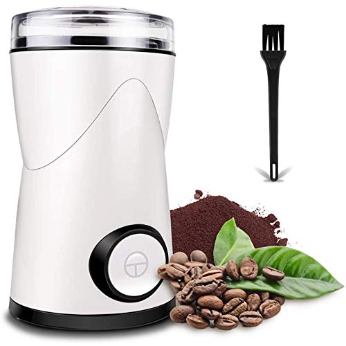 Coffee Grinder with Brush, Keenstone Stainless Steel Electric Coffee Bean Grinder Mill Grinder with Noiseless Motor One…