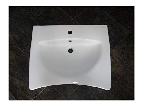 Unterfahrbar + behindertengerechtes Waschbecken Waschtisch   65 cm breit weiß Best Clean Nanobeschichtung