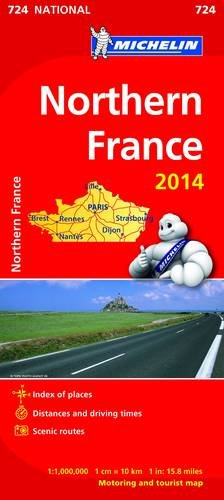 """""""Northern France 2014 National Map 724 (Michelin National Maps)"""""""