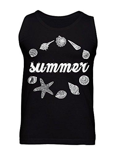 Summer Shells, Clams And Starfish Design Men's Tank Top