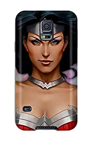 Sherry Green Russell's Shop Awesome Wonder Woman Flip Case With Fashion Design For Galaxy S5