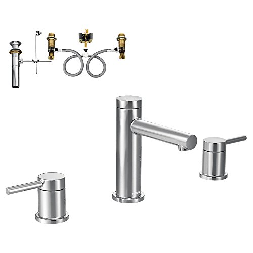 Moen K-T6193CH Align 2-Handle Lavatory Faucet with Rough-in and Drain, Chrome