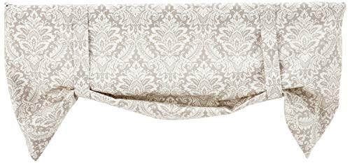 - Ellis Curtain Donnington 50-by-21 Inch Lined Tie-Up Valance, Linen