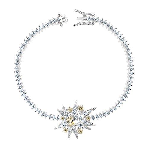 Pink Stardust Princess Costumes (MIYUMIRO Women's Stardust Tennis Bracelet (7))