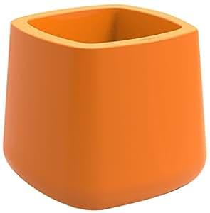 Vondom 42204F Vasija Cuadrada, Naranja, 68x68x60 cm