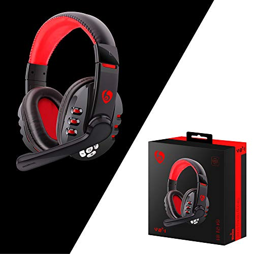 Amaping Wireless Bluetooth Stereo Gaming Headset for PS4 - PC - Xbox One Controller - Noise Cancelling Over Ear Headphones with Mic - Bass Surround for PS4 PC Phone for PUBG (Black)