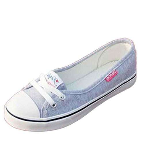 Transer Canvas Leisure Flats Shoes,Women Slip on Comfortable Casual Work Loafers,Ladies New Models Fall Shoes Gray