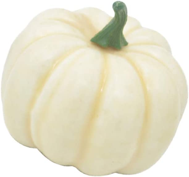 Simulation Foam Pumpkin 12pcs Lifelike Foam Pumpkins Table Props Party Supplies for Halloween Festival Decor (White)