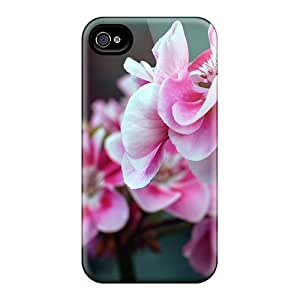 Iphone Cover Case - Pink Red Flowers Protective Case Compatibel With Iphone 5/5s