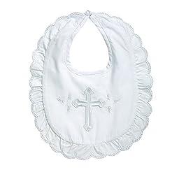 Elegant Baby Embroidered Christening Girl's Bib