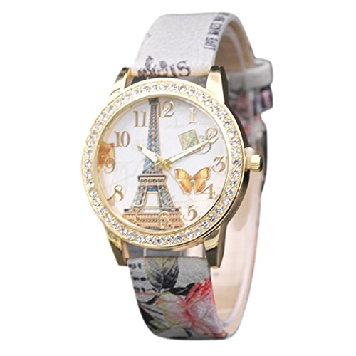 Charberry Charming Butterfly Tower Pattern Analog Quartz Vogue Watches Gray