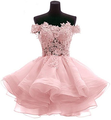 Snowskite Womens Lovely Short Cute Princess Homecoming Prom Dress 8 Pink ()