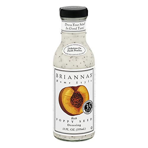Briannas Dressing, Rich Poppy Seed, 12 Ounce (Pack of 4)