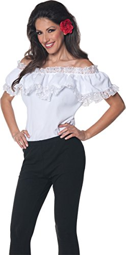Underwraps Women's Senorita Blouse, White, Medium (Costumes Woman Mexican)