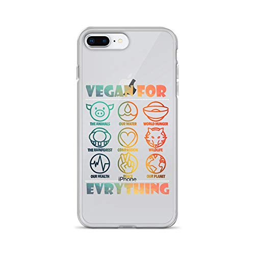iPhone 7 Plus/8 Plus Pure Clear Case Crystal Clear Cases Cover Vegan for Everything Cool Transparent