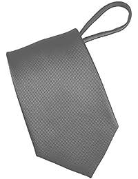 Mens Zipper tie Solid Color Mens Neck Tie