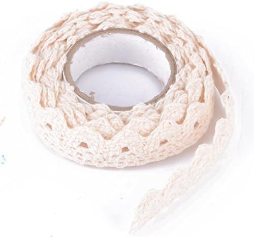 Cinta adhesiva con estampado de encaje, de algodón, para manualidades, color crema: Amazon.es: Bricolaje y herramientas