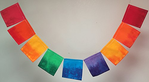 Custom Rainbow Prayer Flag. All proceeds to families in Mexico. Free domestic shipping. by Guerilla Prayer Flags