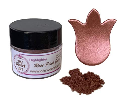 Rose Pink Gold Highlighter Dust (4 Grams Net. Container) by Oh Sweet Art Corp