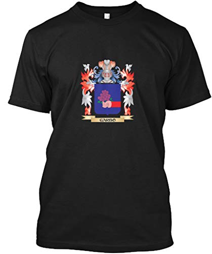 (Garbo Coat of arms Family Crest 5XL - Black Tshirt - Hanes Tagless)