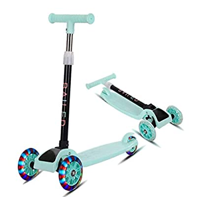 Goodfans 22inch Children Scooter, Durable Portable Folding with Flash Light Sliding Children Scooter Kick Scooters : Garden & Outdoor