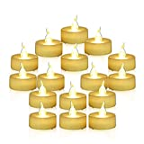 Flameless Candles Battery Operated Candles Unscented Small Min Led Tea Lights Candles for Wedding Christmas,24pcs Flickering Warm White by Youngerbaby