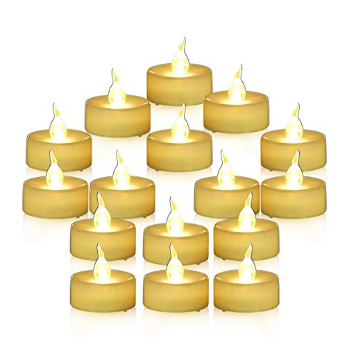 Youngerbaby Flameless Candles Battery Operated Candles Unscented Small Min Led Tea Lights Candles for Wedding Christmas,24pcs Flickering Warm White ()