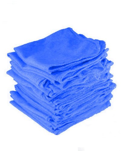 GHP 1000-Pcs 12''x14'' Blue Pre-Shrunk 100% Cotton Mechanics Shop Garage Rag Towels by Globe House Products