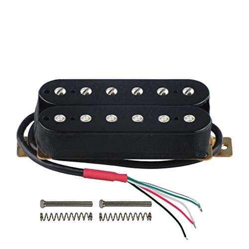 - FLEOR Electric Guitar Double Coil Humbucker Pickups 50mm Ceramic Neck Pickup - Black
