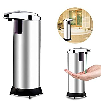 Itian Sensor de Infrarrojos Automático Dispensador de Jabón de Manos Libres sin Contacto de Acero Inoxidable Dispensador de Jabón Líquido, Ideal para Baño o ...