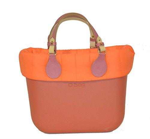 Arancione Manici Mini Bicolore E O Borsa Bordo Trapuntato Bag HXSq7