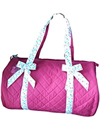 Three Cheers Sweet Dot Quilted Duffle Bag Fuschia
